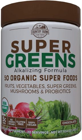 Country Farms Super Greens Chocolate Flavor