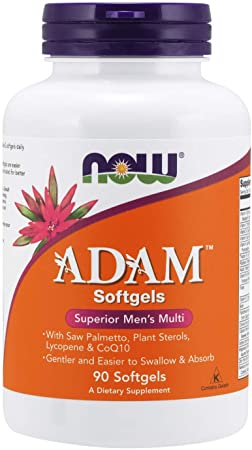 NOW Supplements, ADAM Men's Multivitamin with Saw Palmetto