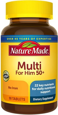 Nature Made Men's Multivitamin 50+ Tablets with Vitamin D, 90 Count