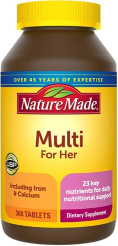 Nature Made Women's Multivitamin Tablets, 300 Count for Daily Nutritional Support†