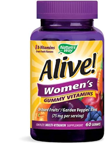Nature's Way Alive! Women's Complete Multi Vitamin Gummy, 75 mg per serving, 60 Count