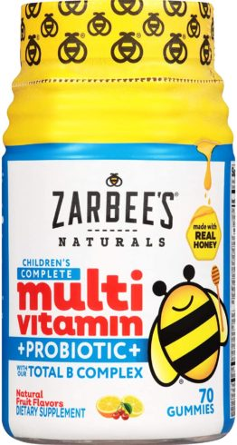 Zarbee's Naturals Children's Complete Multivitamin + Probiotic Gummies