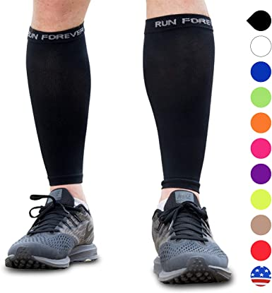 Calf Compression Sleeves - Leg Compression Socks for Runners, Shin Splint, Varicose Vein & Calf Pain Relief - Calf Guard Great for Running