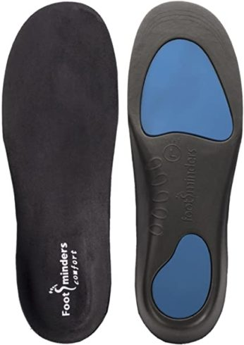 Footminders Comfort Orthotic Arch Support Insoles for Sport Shoes and Work Boots (Pair)