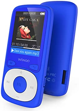 MP3 Player, Wiwoo 16GB MP3 Player with FM Radio Voice Recorder HiFi Lossless Sound MP3 Player for Sport Running, Expandable up to 128GB (Blue)