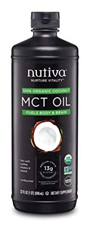 Nutiva Organic MCT Oil, Keto & Paleo Friendly, Unflavored, 32 Ounce