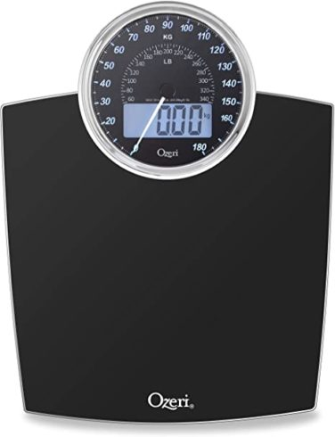 Ozeri Rev 400 lbs (180 kg) Bathroom Scale with Electro-Mechanical Weight Dial and 50 gram Sensor Technology