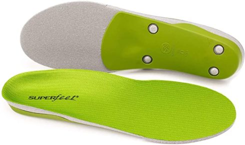 Superfeet GREEN Insoles, Professional-Grade High Arch Support, Orthotic Shoe Inserts for Maximum Support, Unisex, Green