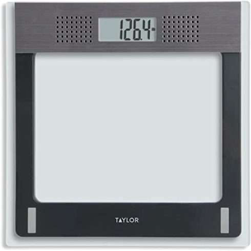 Taylor Electronic Glass Talking Bathroom Scale, 440 Lb