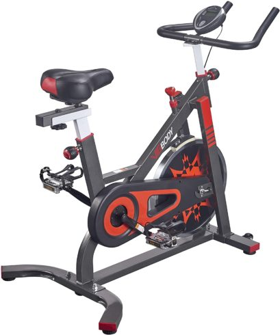 VIGBODY Exercise Bike Indoor Cycling Bicycle Stationary Bikes Cardio Workout Machine Upright Bike Belt Drive Home Gym