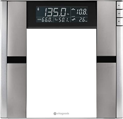 Vitagoods Form Fit Digital Scale and Body Analyzer-Tracks Fat