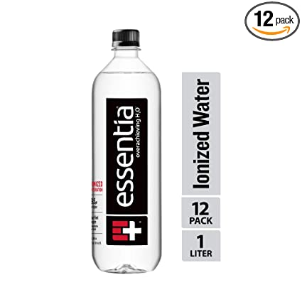Essentia Water, Ionized Alkaline Bottled Water; Electrolytes for Taste, Ionized Hydration, pH 9.5 or Higher, 33.8 Fl Oz, Pack of 12