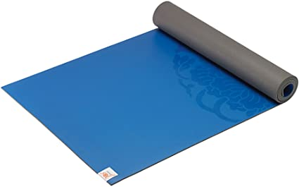 Gaiam Yoga Mat - Premium 5mm Dry-Grip Thick Non Slip Exercise & Fitness Mat for Hot Yoga, Pilates & Floor Workouts