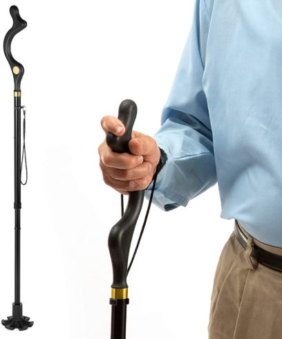 Medical king Walking Cane for Men and Walking Canes for Women Special Balancing - Cane Walking Stick Have 10 Adjustable Heights - self Standing Folding Cane, Collapsible Cane,