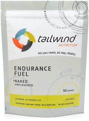 Tailwind Nutrition Naked (Unflavored) Endurance Fuel 50 Serving - Hydration Drink Mix with Electrolytes, Carbohydrates - Non-GMO, Gluten-Free, Vegan, No Soy or Dairy