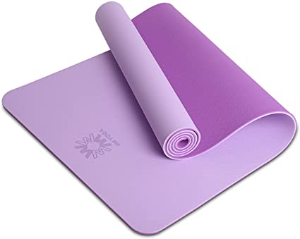 WWWW Yoga Mat Eco Friendly TPE Non Slip Yoga Mats by SGS Certified with Carrying Strap
