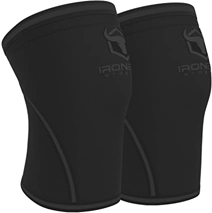 ron Bull Strength Knee Sleeves 7mm (1 Pair) - High Performance Knee Sleeve Support for Weight Lifting, Cross Training & Powerlifting - Best Knee Wraps & Straps Compression - for Men and Women