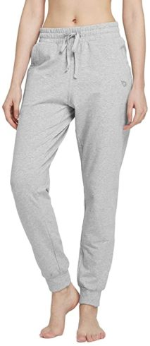 BALEAF Women's Cotton Sweatpants Cozy Joggers Pants Tapered Active Yoga Lounge Casual Cuffeded Pants with Pockets