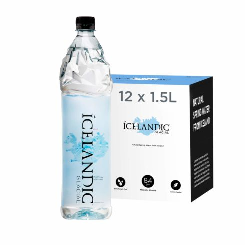 Icelandic Glacial Natural Spring Alkaline Water, 1.5 Liter (12 Count)