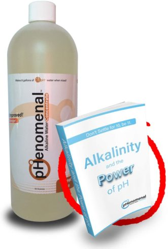 Phenomenal Alkaline Water Concentrate 32oz, Makes 8 Gallons of 11pH+, Sweet Tea Flavor