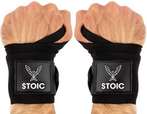 Stoic Wrist Wraps Weightlifting, Powerlifting, Cross Training, Bodybuilding with Thumb Loop.