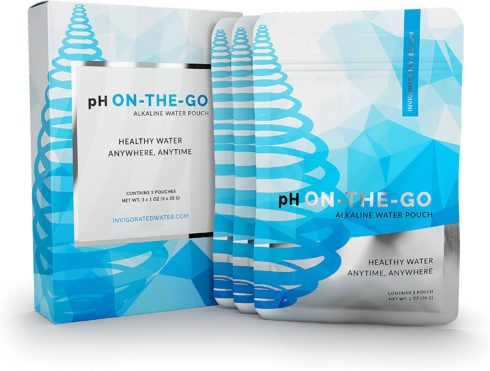 pH ON-THE-GO Alkaline Water Filter Pouch- Portable Alkaline Water Filtration System For Your Bottle, Pitcher, Jug, Container - High pH Ionized Water