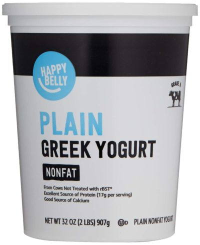 Amazon Brand - Happy Belly Greek Non-Fat Plain Yogurt