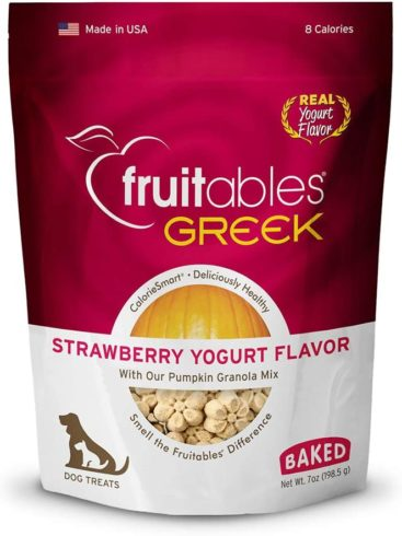 Fruitables Healthy Dog Treats Strawberry Yogurt Flavor