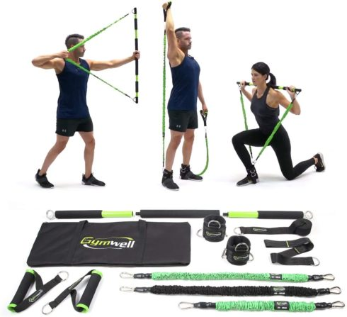 Gymwell Portable Home Gym with 3 Sets of Resistance Bands