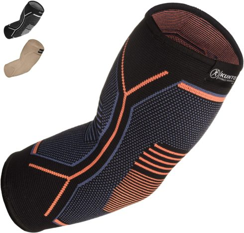 Kunto Fitness Elbow Brace Compression Support Sleeve (Shipped From USA) for Tendonitis