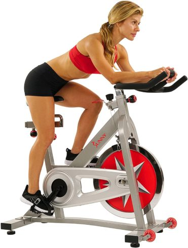 Sunny Health & Fitness Indoor Cycling Bike with 40 LB Flywheel and Dual Felt ResistanceSunny Health & Fitness Indoor Cycling Bike with 40 LB Flywheel and Dual Felt Resistance