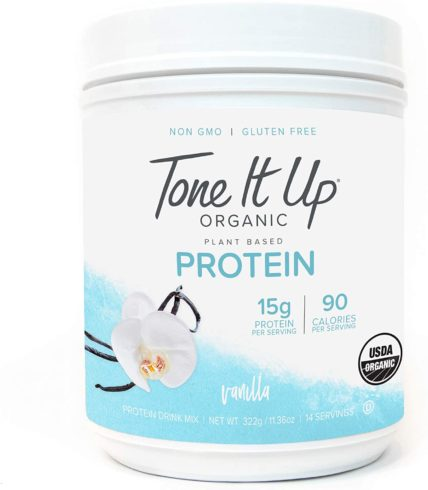Tone It Up Plant Based Vanilla Protein Powder - Organic Pea Protein for Women
