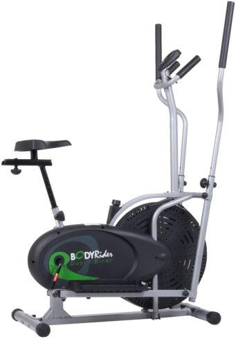 Body Rider Elliptical Trainer and Exercise Bike with Seat and Easy Computer